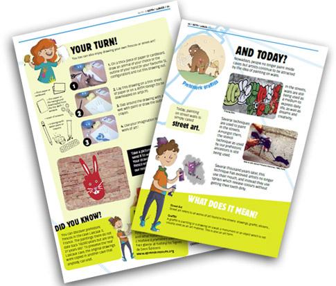 Art Pi Jr Prehistoric art pg 3 and 4 array