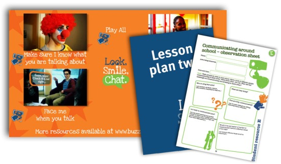 Look smile chat lesson plans and films images