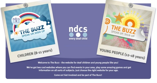 The Buzz - a website for UK deaf young people aged 8-18