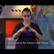 maori girl signing village